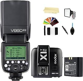 Godox V860II-S TTL 2.4G High Speed Sync 1/8000s GN60 Li-ion Battery Camera Flash speedlite light + Godox X1T-S Wireless Re...
