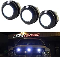 iJDMTOY SVT Raptor Style White LED Grille Lighting Kit Universal Fit For Truck or SUV, 3-Piece High Power Xenon White Grill Marker Light Set