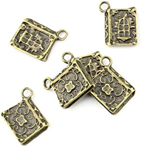 40 pieces Anti-Brass Fashion Jewelry Making Charms 1978 Ancient book Wholesale Supplies Pendant Craft DIY Vintage Alloys Necklace Bulk Supply Findings