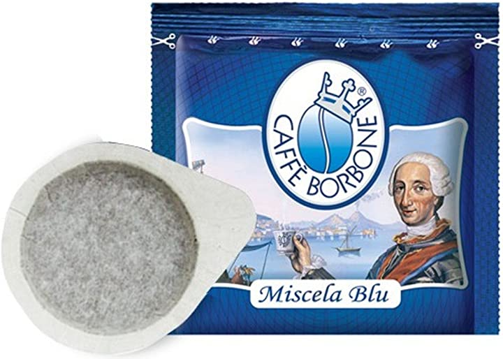 Cialde caffè borbone 600 cialde filtro carta 44 mm caffe` borbone miscela blu originali B01F545Y24