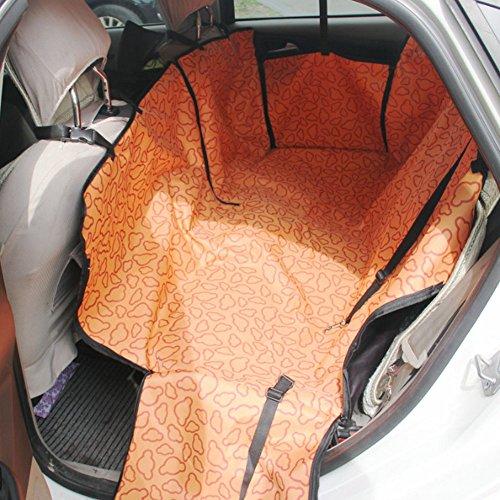 Seat étanche Car Cover Pet Dog Mat Voyage pour siège arrière, Nuage Orange