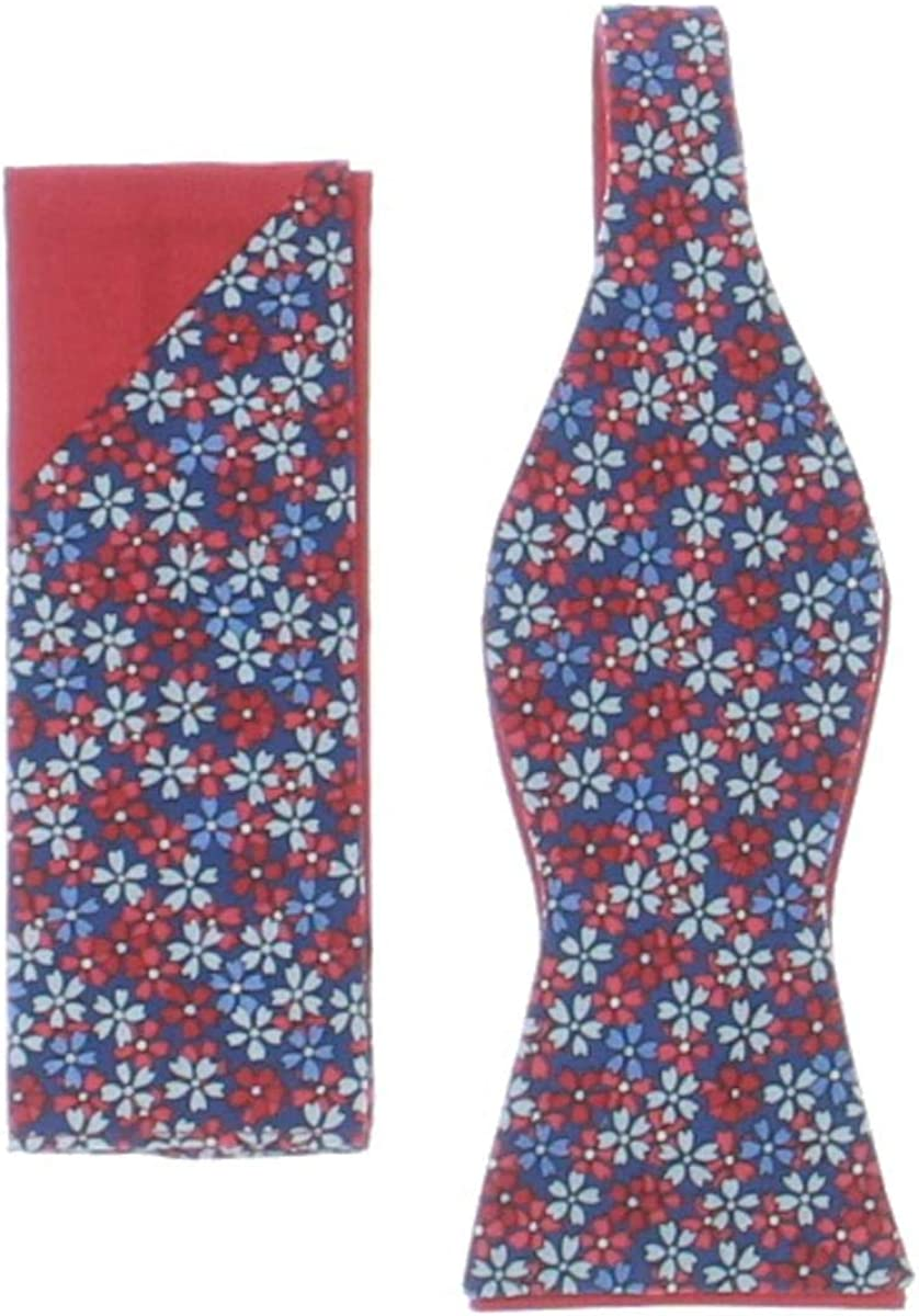 Tommy Hilfiger Mens Silk Plaid Pocket Square Red O/S