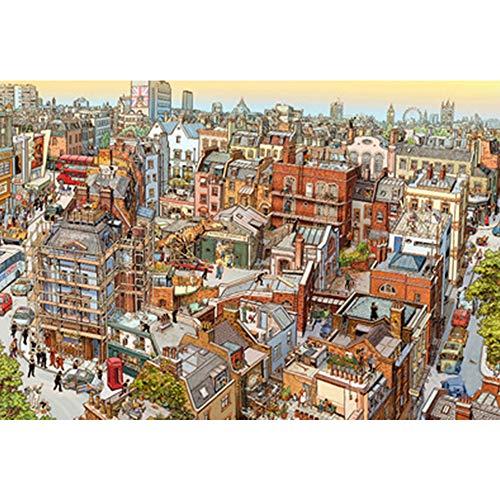 RZJMYUE IQ Challenge Puzzle, Detective Sherlock/Happy Bier/Ich Liebe Frühling Educational Puzzle Spielzeug Holzpuzzle 1000 Stück,A