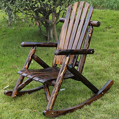WPOV-A Schaukelstuhl aus massivem Holz im Freien, multifunktionaler Kombistuhl, geeignet für Innenhof/Innen 1125-YY (Color : Stuhl)