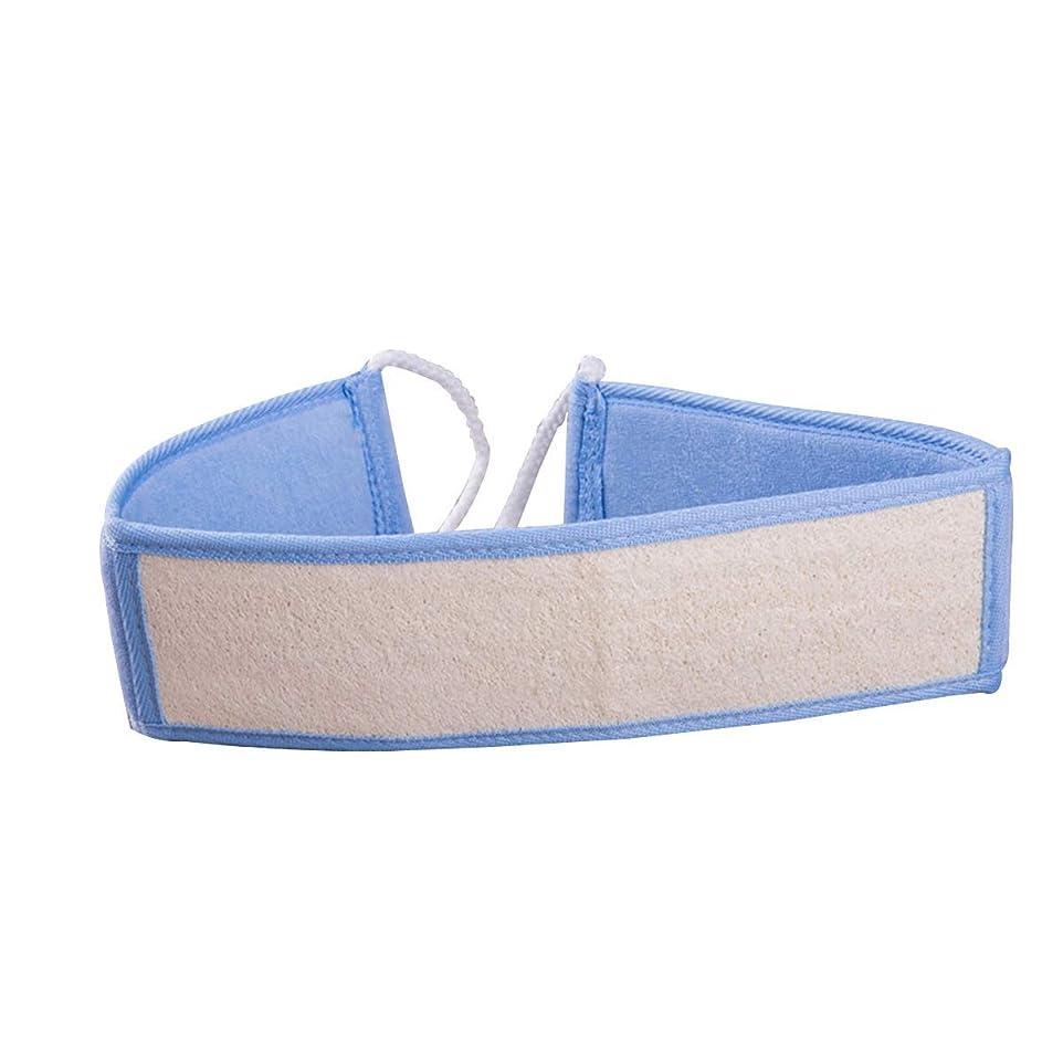 プラスチック勉強する安全なHEALIFTY Lofah Spongeロングハンドルバスブラシバックラビングタオルスクラバーストリップ(ブルー)