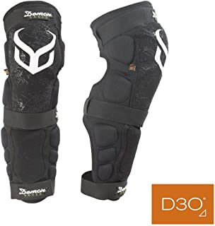 Demon D3O Hyper Knee/Shin Mountain Bike Knee Pads- D30 Knee Pads and Shin Pads for MTB/BMX/Snowboard/Motorcycle Knee Pads- Come as a Pair