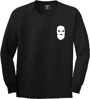 Kings Of NY Ski Mask Chest Logo New York Hood Long Sleeve T-Shirt