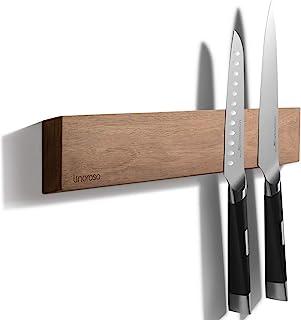 linoroso 16,5''/42cm Porte-Couteaux magnétique Mural, en Bois d'acacia Puissant Porte-Couteaux magnétique pour Couteaux et...
