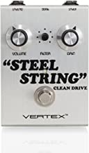 """Vertex Effects Steel String Clean Drive Guitar Effects Pedal, Guitar and Bass Pedal, Recreates the Tonality of the Dumble Steel String Singer Amplifier, 4.6"""" x 3.2"""" x 1.8"""""""
