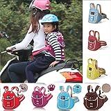 UxradG - Imbracatura con cintura di sicurezza per bambini regolabile, per moto, auto, biciclette,...