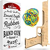 Isottcom Rubber Band Gun  Toy Gun Desert Eagle  Boys Toys for Outdoor Indoor Game  Wooden Toy Guns  Best Present for Men  Wooden Pistol for Shooting Game  Kids Toys for Pretend Play
