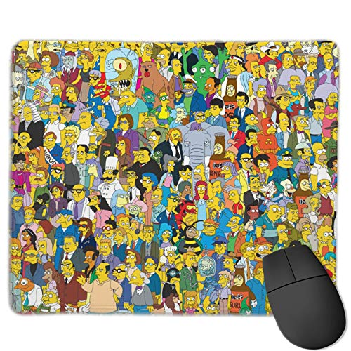 The Simpsons Mouse Pad Non-Slip Rubber Computer Mouse Mat The Mouse Pad 25 X 30 cm