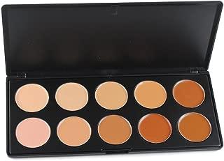 PhantomSky 10 Colors Cream Concealer Camouflage Makeup Highlighter Contour Palette - Professional Base Foundation Beauty Cosmetics