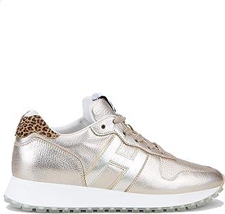 Hogan Scarpe da Donna H429 HXW4290CR00O970PT0 Retro Running H383 Sneakers Sportive in Pelle Rosa Cipria Nuove Comode Tempo...