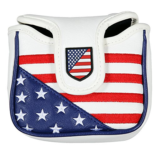 Golf Obsession New USA Large Mallet Putter Headcover with Magnetic Closure for Spider Putter
