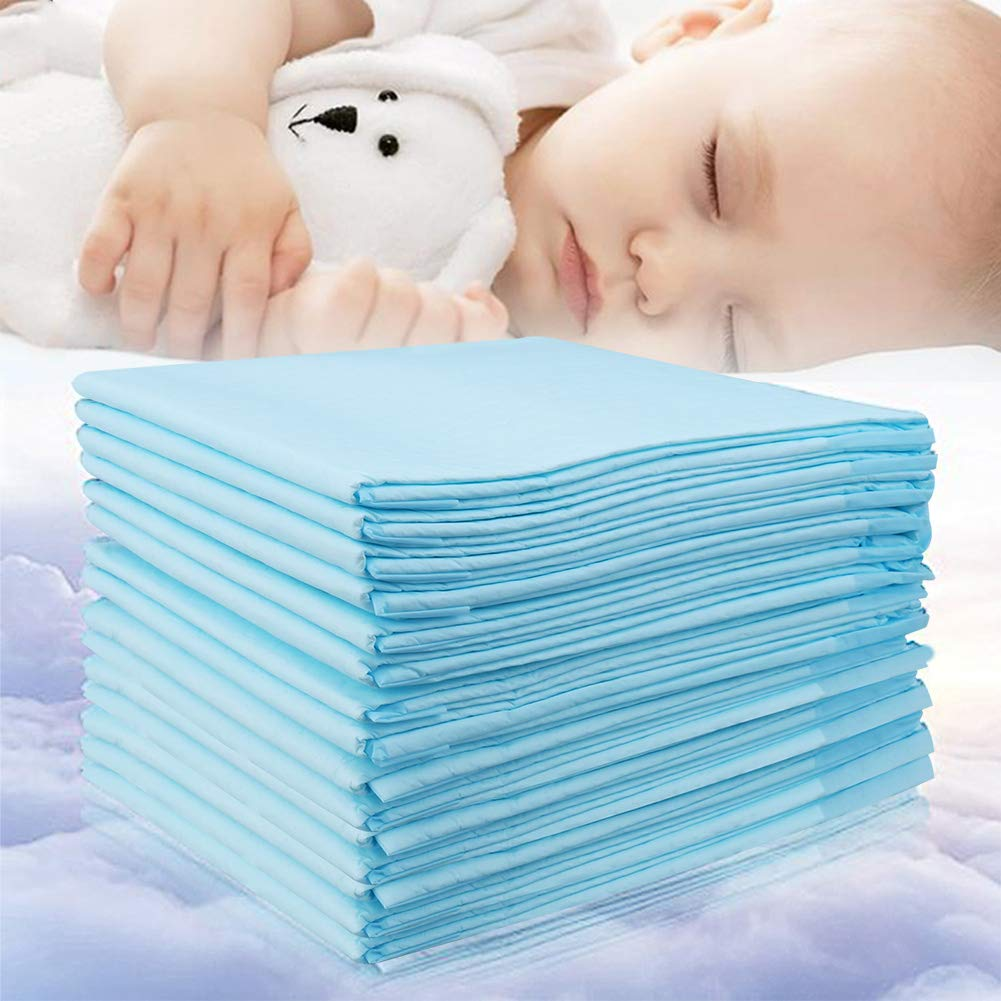 Baby Disposable Changing Pad, 20Pack Soft Waterproof Mat, Portable Diaper Changing Table & Mat, Leak-Proof Breathable Underpads Mattress Play Pad Sheet Protector(13'' 18'')
