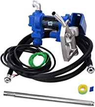 RUITAPRO 12V Electric Gasoline Fuel Transfer Pump 20GPM High-Flow Diesel Gasoline Kerosene Extractor Pump with Hose and Nozzle Kit