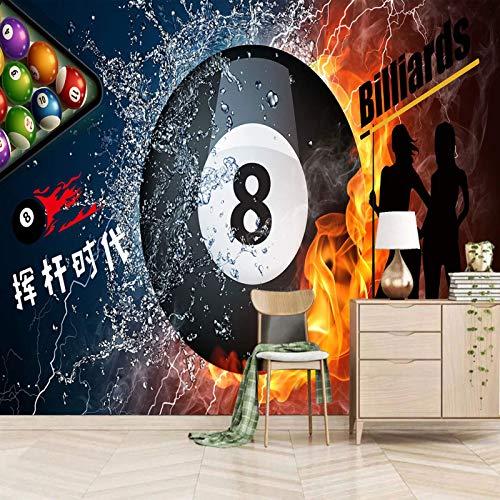 TDYNJJ Wandbild Fototapete - Billard Sport Flamme - 3D Selbstklebende Wandaufkleber - Vlies Tapete - 3D Wandplakat Bilddruck Dekoration Künstler Schlafzimmer Wohnzimmer Wand Hintergrund