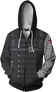 Mens Super Hero Hoodie Zip Up/Pullover Jacket Halloween Cosplay Sweater Costume