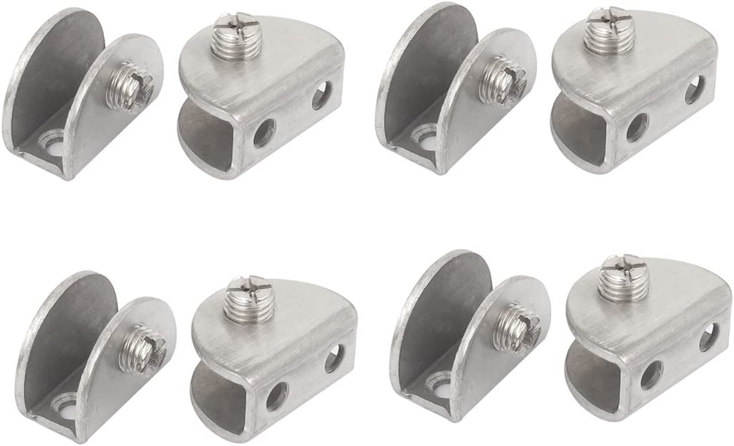 Aexit 8pcs Half Fall Protection Round Si Glass Clip Shaped Clamp Max 57% Ranking TOP5 OFF