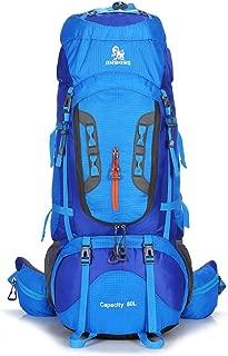 LQSJB 80L Large Outdoor Backpack Waterproof Travel Bags Camping Hiking WomenClimbing Backpacks Rucksack Men Sport Bag