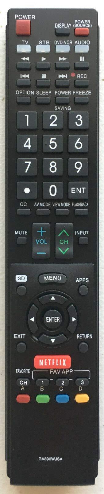 USBRMT GB005WJSA - Mando a Distancia de Repuesto para televisor Sharp AQUOS GB004WJSA GB118WJSA GA935WJSA GA890WJSA GB105WJSA: Amazon.es: Electrónica