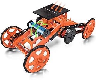 Yeelan DIY 4WD Climbing Car Solar Robot Toy Kit Double Energy Mode Robots Assembly Cars Kits Electric Model Vehicles STEM ...