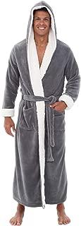 Men's Warm Fleece Robe with Hood, Plush Sherpa Big and...
