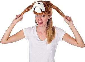 Rittle Furry St. Bernard Dog Animal Hat, Realistic Plush Costume Headwear - One Size