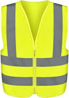 Neiko 53940A High Visibility Safety Vest, Medium, Neon Yellow