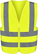 Neiko 53940A High Visibility Safety Vest, Medium, Neon Yellow