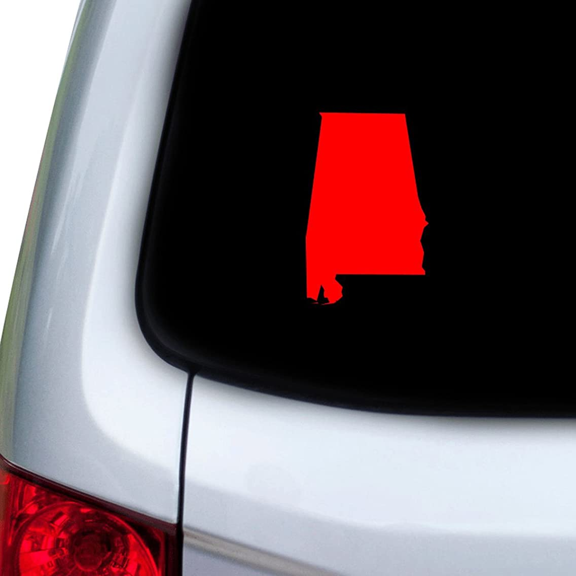 StickAny Car and Auto Decal Series Alabama AL Sticker for Windows, Doors, Hoods (Red)