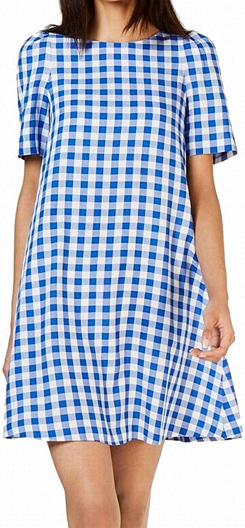 Calvin Klein 100% quality warranty Women's Short Sleeve Shift Key Dress with Back Max 79% OFF Hole