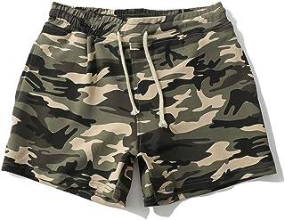 Bañador Camuflaje Hombre Playa Pantalones Corto Camuflaje Verano Traje de Baño Bóxers Bañadores Elástico con Cordón Estamp...