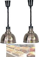 BOVDC Lampe Chauffe-Plats pour Pizza Steak, Lampe Chauffante Portable pour Aliments avec Fil de Suspension Réglable de 65-...