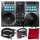 Gemini G2V Virtual DJ Controller and Mixer with Cables and Fibertique Cloth