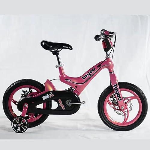 los clientes primero Bicicleta de los Niños, aleación del magnesio magnesio magnesio 14 pulgadas muchacha de 16 pulgadas del muchacho 3-6-10 años Estudiantes de la escuela primaria Frenos de dos discos de la bicicleta  40% de descuento
