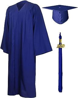 GraduationMall Adulto Graduación Toga y Birrete Mate para