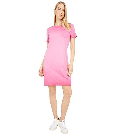 Calvin Klein T-Shirt Dress with Front Pocket (Lipstick) Women