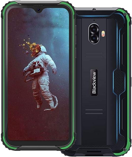 Blackview BV5900 4G Teléfono Móvil Resistente IP68 Impermeable Robusto 5.7 Inch 3GB/32GB 5580mAh Batería Android 9.0 SIM Doble Smartphone 13MP+5MP Cámaras NFC/Face ID/GPS/GLONASS - Verde