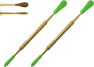 Gold Wax Concentrate Carving Tool Pipe Poker Stainless Steel with Silicone Tip Covers 4.75