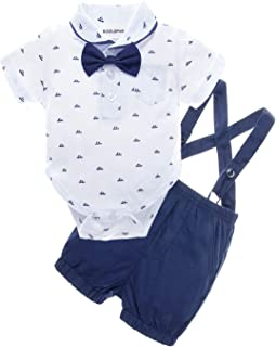 Baby Boys' 2 Piece T-Shirt Suspender Shorts Clothing Set