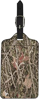 Pinbeam Luggage Tag Green Realistic Hunting and Military Camouflage Branches Grass Suitcase Baggage Label