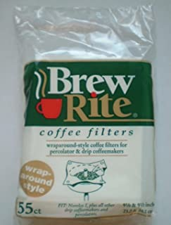 Brew Rite Wrap Around Percolator Coffee Filters 55 Count