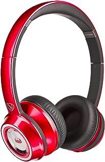 Monster NCredible NTune - Auriculares de Diadema, Color Rojo