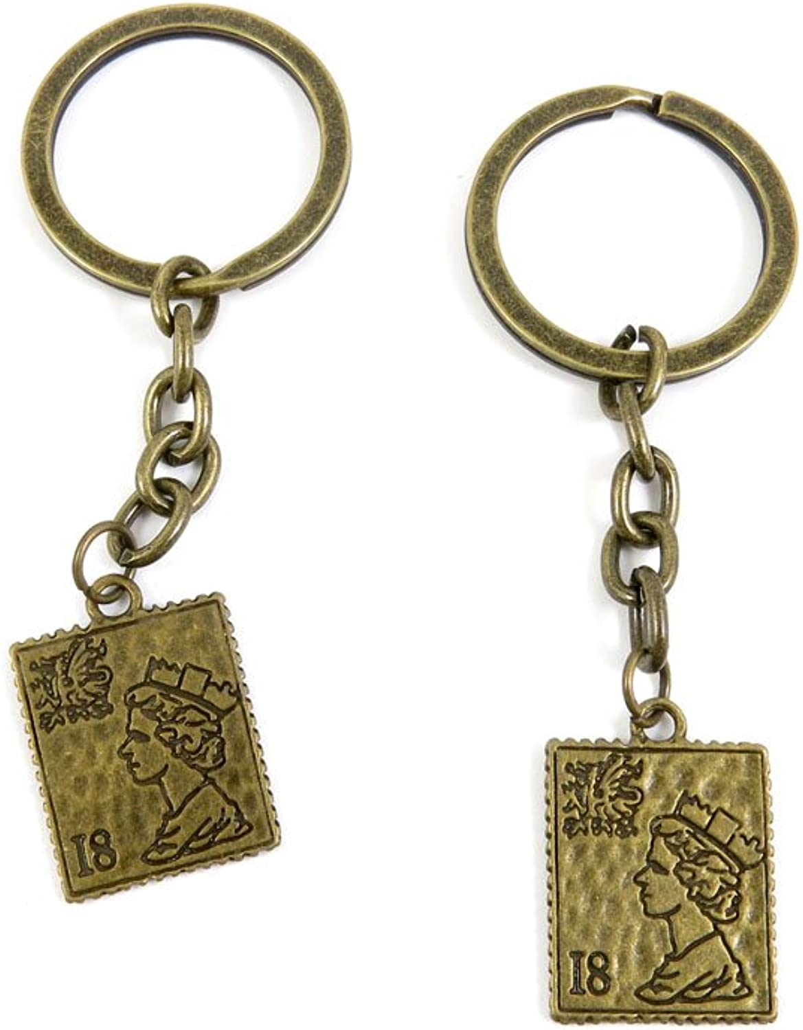 160 Pieces Fashion Jewelry Keyring Keychain Door Car Key Tag Ring Chain Supplier Supply Wholesale Bulk Lots K8PE4 Queen Stamp