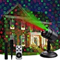 Christmas Laser Lights,LED Decorative Projector 8 Patterns Waterproof Snow Santa Plug in Night Lights for Indoor Outdoor Xmas Halloween Holiday Party with RF Remote Control Timer,Red & Green