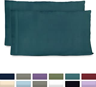 Cosy House Collection Premium Bamboo Pillowcases - King, Dark Teal Pillow Case Set of 2 - Ultra Soft & Cool Hypoallergenic Blend from Natural Bamboo Fiber