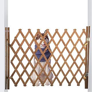 蜂の巣 木製 ペットゲート 伸縮可能 ペットフェンス アコーディオンフェンス 間仕切り 庭 フェンス ドア付き あかちゃん ガードフェンス スプライス可能 室内室外 設置可能 ブラウン 幅広い 54~220cm (XL)