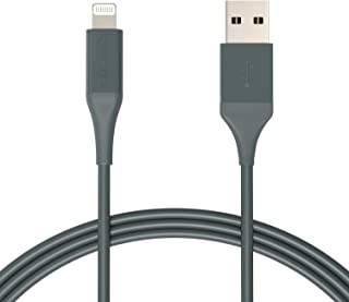 Amazon Basics Lightning to USB Cable - Advanced Collection, MFi Certified Apple iPhone Charger, Midnight Green, 6-Foot (Du...